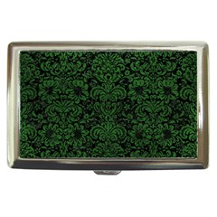 Damask2 Black Marble & Green Leather Cigarette Money Cases