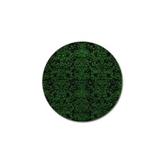 Damask2 Black Marble & Green Leather Golf Ball Marker