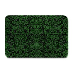 Damask2 Black Marble & Green Leather Plate Mats