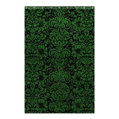 Damask2 Black Marble & Green Leather Shower Curtain 48  X 72  (small)
