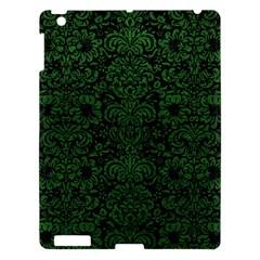 Damask2 Black Marble & Green Leather Apple Ipad 3/4 Hardshell Case