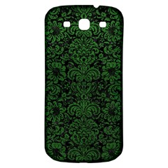 Damask2 Black Marble & Green Leather Samsung Galaxy S3 S Iii Classic Hardshell Back Case