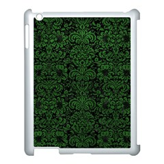 Damask2 Black Marble & Green Leather Apple Ipad 3/4 Case (white)