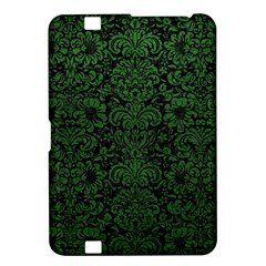Damask2 Black Marble & Green Leather Kindle Fire Hd 8 9