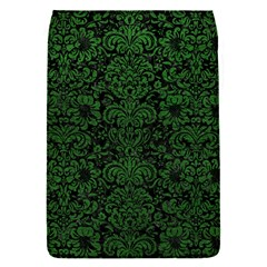 Damask2 Black Marble & Green Leather Flap Covers (s)