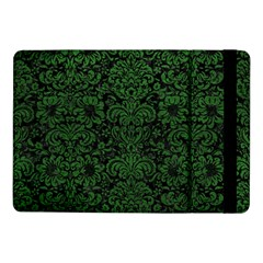 Damask2 Black Marble & Green Leather Samsung Galaxy Tab Pro 10 1  Flip Case