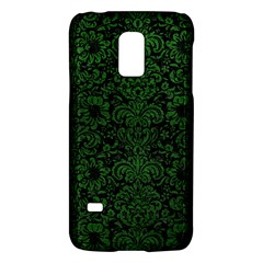 Damask2 Black Marble & Green Leather Galaxy S5 Mini