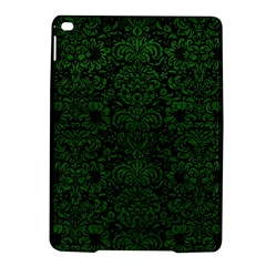 Damask2 Black Marble & Green Leather Ipad Air 2 Hardshell Cases