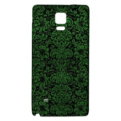 Damask2 Black Marble & Green Leather Galaxy Note 4 Back Case