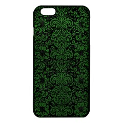 Damask2 Black Marble & Green Leather Iphone 6 Plus/6s Plus Tpu Case
