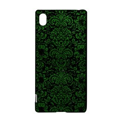Damask2 Black Marble & Green Leather Sony Xperia Z3+