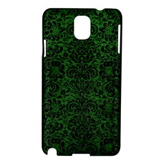 Damask2 Black Marble & Green Leather (r) Samsung Galaxy Note 3 N9005 Hardshell Case