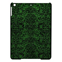 Damask2 Black Marble & Green Leather (r) Ipad Air Hardshell Cases