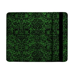 Damask2 Black Marble & Green Leather (r) Samsung Galaxy Tab Pro 8 4  Flip Case