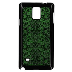 Damask2 Black Marble & Green Leather (r) Samsung Galaxy Note 4 Case (black)