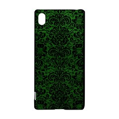 Damask2 Black Marble & Green Leather (r) Sony Xperia Z3+