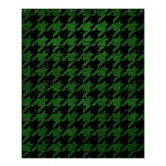 Houndstooth1 Black Marble & Green Leather Shower Curtain 60  X 72  (medium)