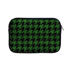 Houndstooth1 Black Marble & Green Leather Apple Ipad Mini Zipper Cases