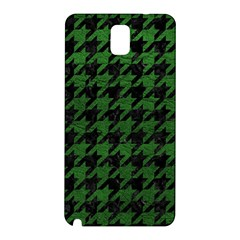 Houndstooth1 Black Marble & Green Leather Samsung Galaxy Note 3 N9005 Hardshell Back Case