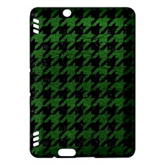 Houndstooth1 Black Marble & Green Leather Kindle Fire Hdx Hardshell Case