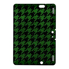 Houndstooth1 Black Marble & Green Leather Kindle Fire Hdx 8 9  Hardshell Case
