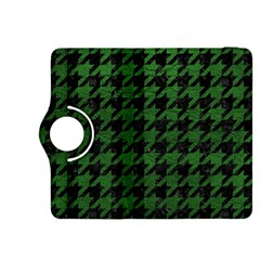 Houndstooth1 Black Marble & Green Leather Kindle Fire Hdx 8 9  Flip 360 Case