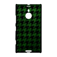 Houndstooth1 Black Marble & Green Leather Nokia Lumia 1520
