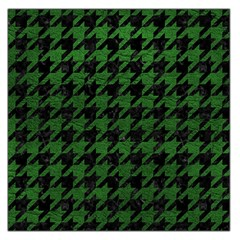 Houndstooth1 Black Marble & Green Leather Large Satin Scarf (square)