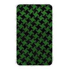 Houndstooth2 Black Marble & Green Leather Memory Card Reader