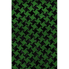 Houndstooth2 Black Marble & Green Leather 5 5  X 8 5  Notebooks