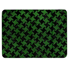 Houndstooth2 Black Marble & Green Leather Samsung Galaxy Tab 7  P1000 Flip Case