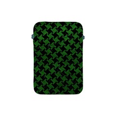 Houndstooth2 Black Marble & Green Leather Apple Ipad Mini Protective Soft Cases