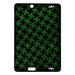 Houndstooth2 Black Marble & Green Leather Amazon Kindle Fire Hd (2013) Hardshell Case