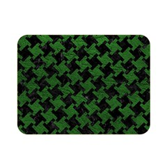 Houndstooth2 Black Marble & Green Leather Double Sided Flano Blanket (mini)