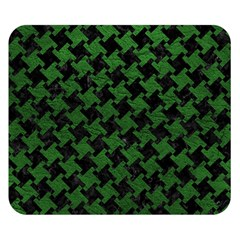 Houndstooth2 Black Marble & Green Leather Double Sided Flano Blanket (small)