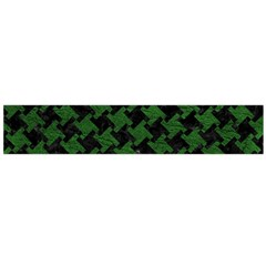 Houndstooth2 Black Marble & Green Leather Flano Scarf (large)