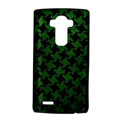 Houndstooth2 Black Marble & Green Leather Lg G4 Hardshell Case