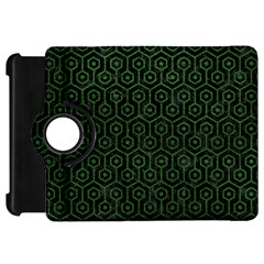 Hexagon1 Black Marble & Green Leather Kindle Fire Hd 7