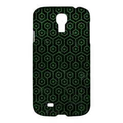 Hexagon1 Black Marble & Green Leather Samsung Galaxy S4 I9500/i9505 Hardshell Case