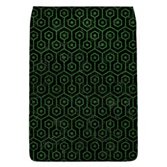 Hexagon1 Black Marble & Green Leather Flap Covers (l)