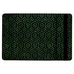 Hexagon1 Black Marble & Green Leather Ipad Air Flip