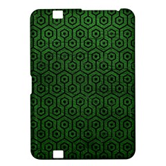 Hexagon1 Black Marble & Green Leather (r) Kindle Fire Hd 8 9