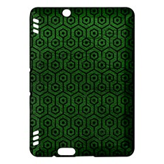Hexagon1 Black Marble & Green Leather (r) Kindle Fire Hdx Hardshell Case