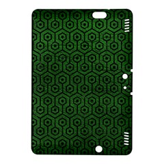 Hexagon1 Black Marble & Green Leather (r) Kindle Fire Hdx 8 9  Hardshell Case
