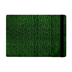 Hexagon1 Black Marble & Green Leather (r) Ipad Mini 2 Flip Cases