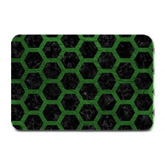 Hexagon2 Black Marble & Green Leather Plate Mats