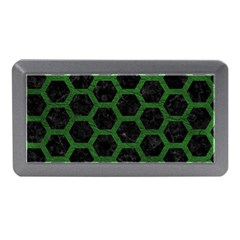 Hexagon2 Black Marble & Green Leather Memory Card Reader (mini)