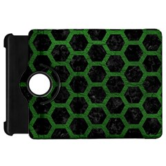 Hexagon2 Black Marble & Green Leather Kindle Fire Hd 7