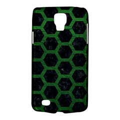 Hexagon2 Black Marble & Green Leather Galaxy S4 Active