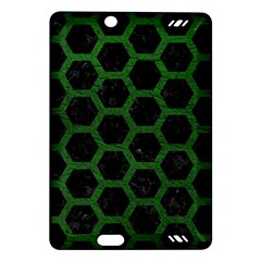 Hexagon2 Black Marble & Green Leather Amazon Kindle Fire Hd (2013) Hardshell Case